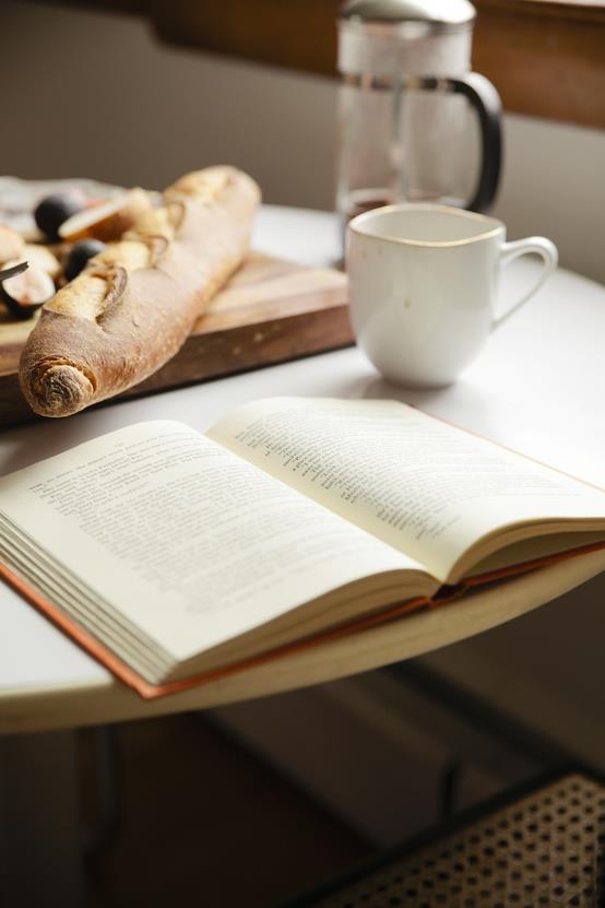 cafe com baguete