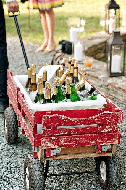 champagne no carrinho
