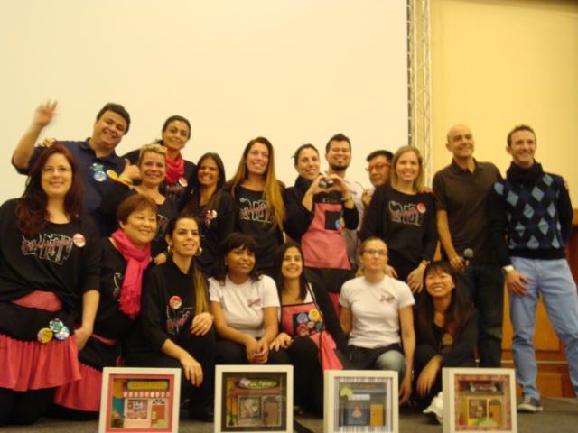 Obrigada à equipe que preparou todo o evento. Amei! Vocês merecem todas as palmas e os parabéns!