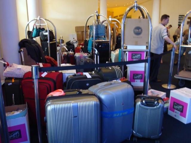 Excessos de bagagem, materiais e alegria. As malas voltam cheinhas para casa.