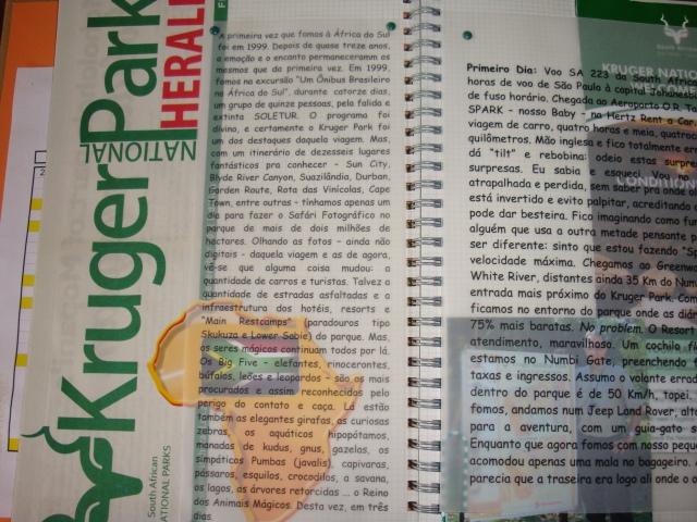 Jornal do Kruger + foto + folder + texto impresso em papel vegetal