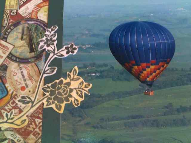 balão com flores