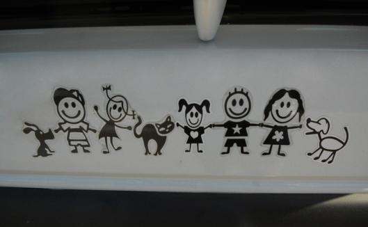 familia feliz adesivo