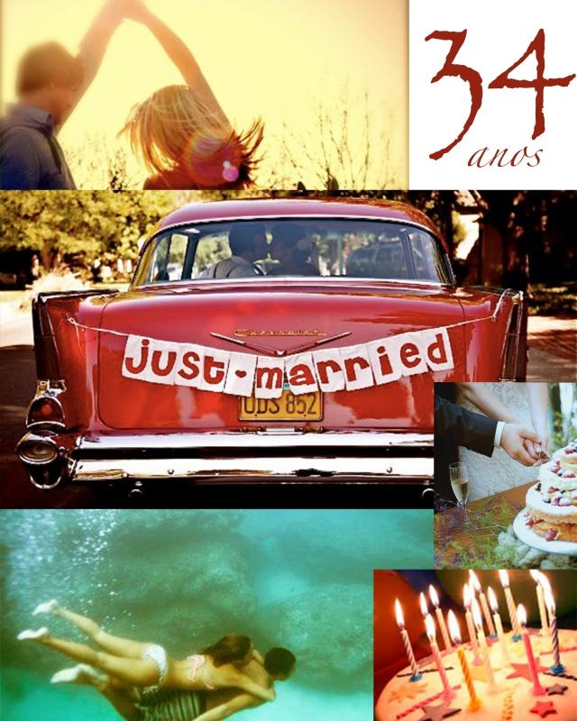 34 anos de casados painel