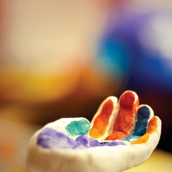 pintando mãos