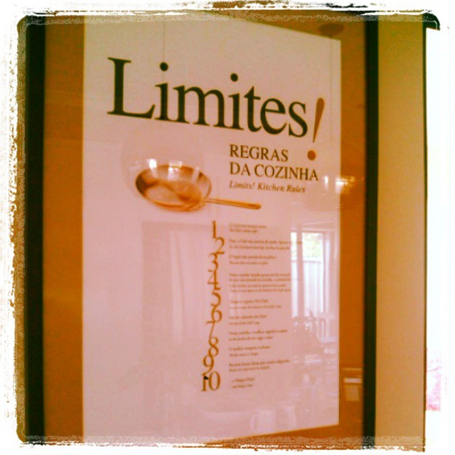 limites na cozinha