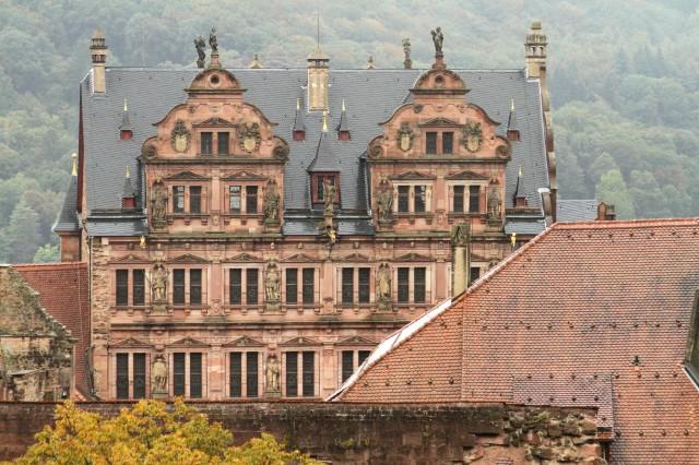 Fachada do castelo de Heidelberg - Alemanha.