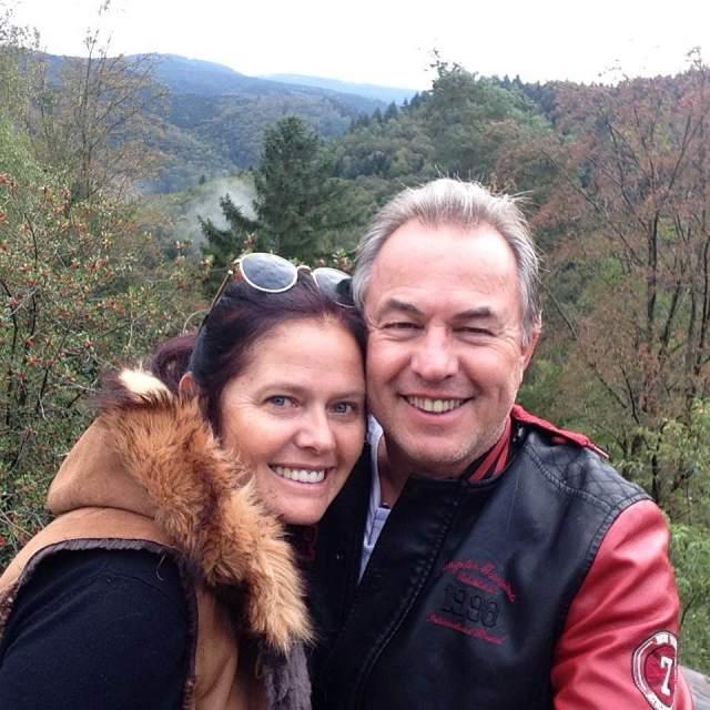 Elias e eu no Swartzwalt, - em outubro de 2016 - Alemanha