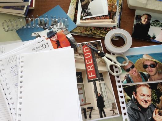 Juntando fotos e materiais