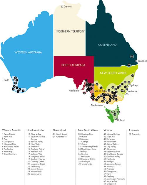 regioesvinicolas da australia