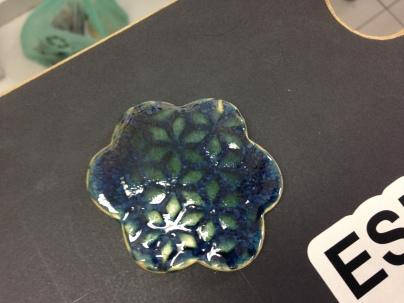 esmalte azul com pigmento