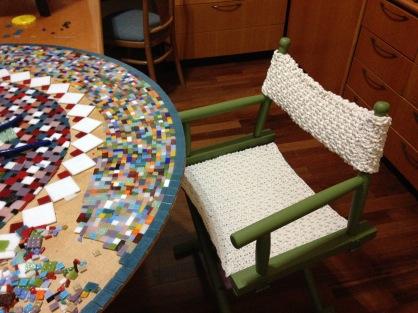 Crochê cadeira diretor